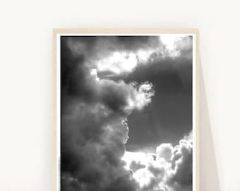 Cloud Photography, clouds print, Clouds Photo,  Printable Art, Instant Download, Home Decor, Wall Decor, Wall art