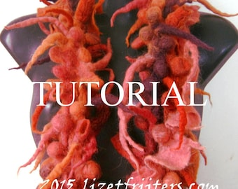 Shibori Felting Tutorial Pattern Shibori Felt Boa Scarf PDF - Instant Download