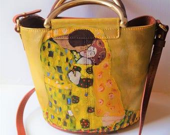 Hand Painted real Leather handbag