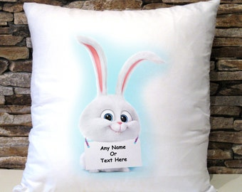 Personalised Snowball Secret Lives Of Pets Cushion Cover Birthday Christmas Gift Present Pillow Case