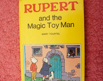 Vintage, 1960s, Express Newspapers, No 1, Rupert And The Magic Toy Man, Mary Tourtel, Hard Back, Children's, Book, Retro, Collectible