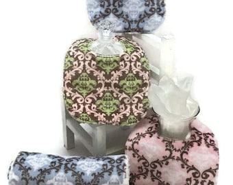 Baby Burp Cloths, Baby Bibs, diaper changing pad, Damask minky, baby accessories, Minky Burp cloths, burp rags, baby gift, baby shower gift