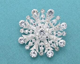 Crystal Brooch, Bridal Brooch, Wedding Brooch, Bouquet Brooch, Wedding Cake Brooch, Rhinestones Pin, Crystal Brooches.