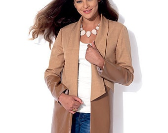 McCall's Pattern M7332 Misses' Open Front Vest and Jackets