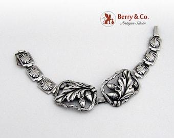 SaLe! sALe! Acorn Bracelet Sterling Silver 1940