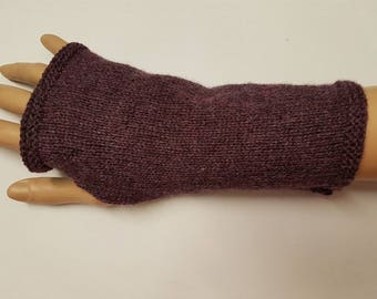 Purple cashmere gloves - knitwear - handwarmers - fingerless gloves - mittens - purple gloves - cashmere gloves - mothers day - gift for her
