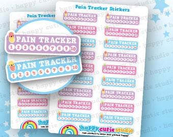 18 Cute Pain Tracker/Health Planner Stickers, Filofax, Erin Condren, Happy Planner,  Kawaii, Cute Sticker, UK