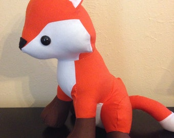 Made to order Solid orange stuffed fox/nursery decor/woodland animal