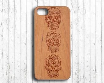 Skull iphone 6 case sugar skull  iphone 7 plus case wood  iphone 6s wood case wood  iphone 6s plus case  iphone 6 case bamboo
