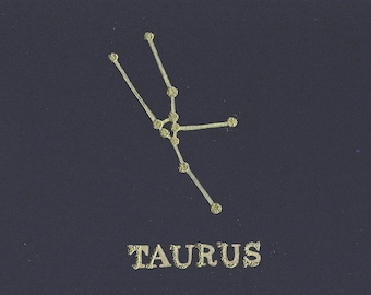 Taurus Birthday Card, Astrology, Horoscope, Constellation, Taurus Card, Star Sign, Birthday, Taurus, Birthday Card