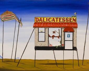 Dalicatessen // Dali surreal deli pun art print