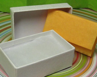 Gift box with pad & tissue paper in your choice of colors, add to your order and make your gift giving easier 2.5 x 1 7/8 inches