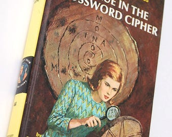 44 The Clue in the Crossword Cipher Nancy Drew Mystery Stories by Carolyn Keene 1960s Detective Stories for Girls Mystery Series