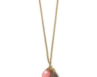 Boho Charm Necklace - Charm Pendant Necklace - Tassel Pendant Necklace - Boho Pendant Necklace - Boho Tassel Necklace - Tassel Necklace