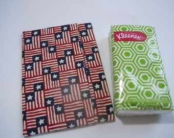 Everyday Purse or Pocket Tissue Cover - Patriotic Print