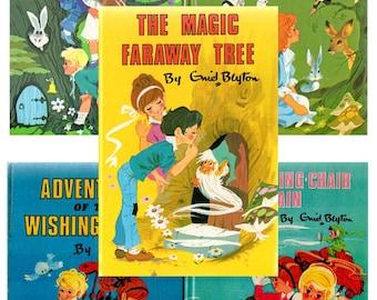 MAGIC FARAWAY TREE by Enid Blyton set of 5 vintage hardbacks incl. The Magic Faraway Tree, Folk of, The Enchanted Wood, Wishing Chair