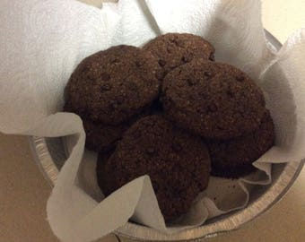 Double chocolate chip cookies GF