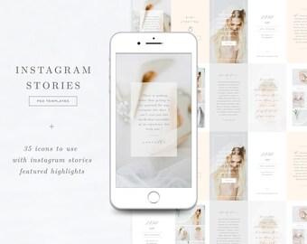Instagram Stories Templates & Highlights Icons - Social Media Templates - Photographer Branding - Aspen