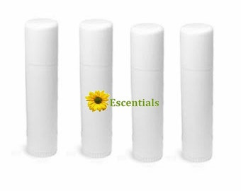 White Lip Balm Tube - 10 Pack