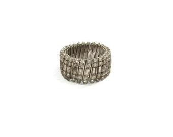 Vintage Slate Gray Rhinestone Bracelet