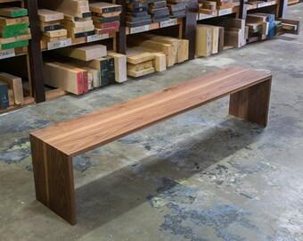 The Wheeler Walnut Bench