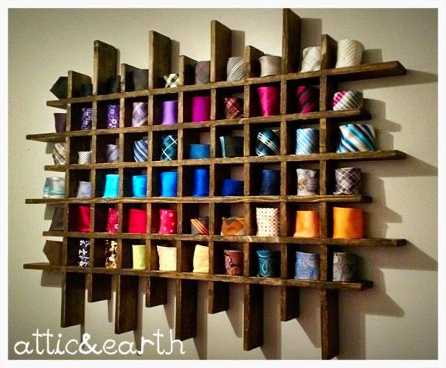 Handmade tie rack