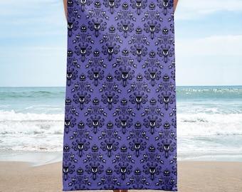 Haunted Mansion Wallpaper Bathroom/Beach Towel