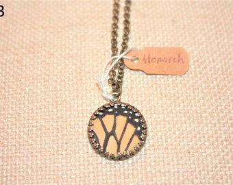 Monarch Butterfly Necklace Size Small and Medium