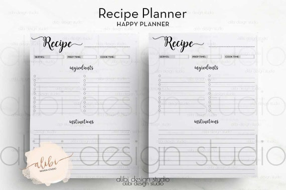 Obsessed image inside happy planner recipe printable