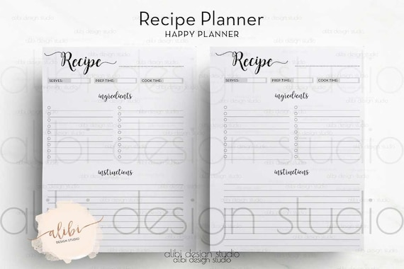 Accomplished image with happy planner recipe printable