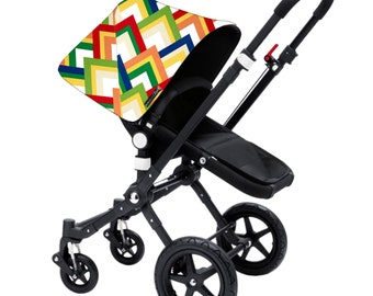 "Bugaboo Cameleon, Bee, Donkey, Frog Custom canopy hood cover ""multi color "" by Stroll N Style"