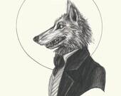 Dapper Werewolf- 5x7 Prin...