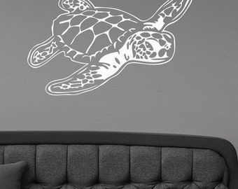Sea Turtle Wall Sticker Removable Vinyl Decal Ocean Animal Art Underwater Life Decorations for Home Housewares Bathroom Wildlife Decor trt12