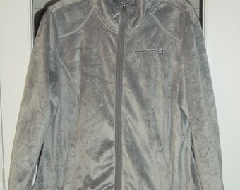 SALE Womens  Faux Fur Jacket Medium - Large Taupe