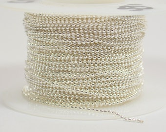 1mm Ball Chain - Silver Plated - CH131 - Choose Your Length