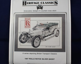 1907 Rolls Royce Silver Ghost Embroidery Kit by Heritage Stitchcraft