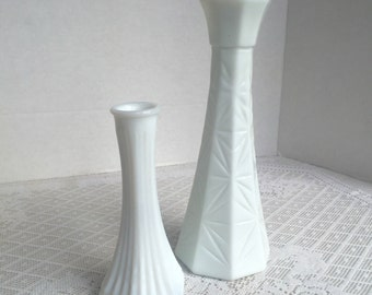 Vintage Milk Glass Bud Vases for Weddings and Special Events