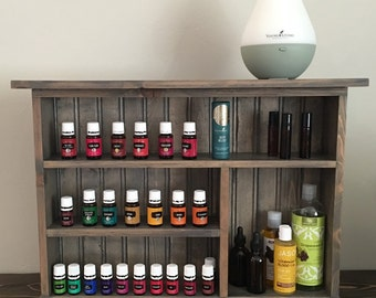 DIY Essential Oil Shelf Unfinished Essential Oil Storage
