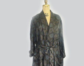 60s Mens Smoking Jacket Robe by Majestic