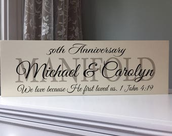 50th anniversary decorations etsy 50th wedding anniversary gifts for parents gift ideas party decorations anniversary center piece 25th anniversary wood sign wooden sign junglespirit Choice Image