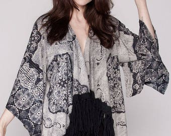 Hippie Fringe Kimono, A must have for every Boho Girl