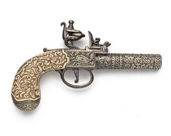 18th Century Ornate Flintlock Pocket Pistol