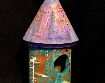NEW - Abstract Mini-Birdhouse #1