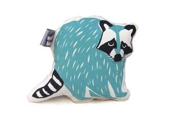 Stuffed Animal Raccoon Baby Rattle, Animal Stuffed Toy, Woodland Animals, Baby Plush Toy, Baby Gift, Baby Shower Gift, Woodland Nursery