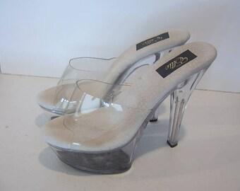 """6"""" Clear platform heels - Ellie"""