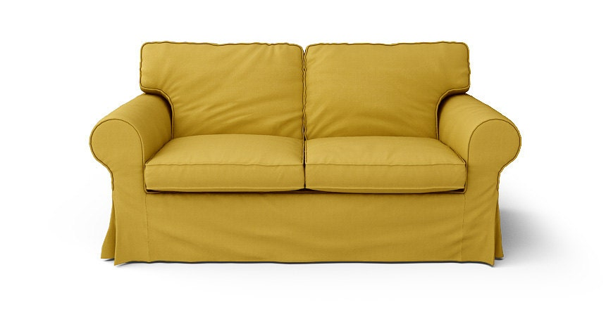 ikea ektorp 2 seater sofa slipcover only in shire mustard. Black Bedroom Furniture Sets. Home Design Ideas