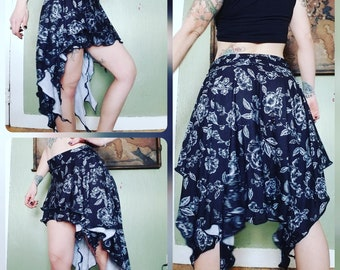 Double Layer High Low Pixie Skirt