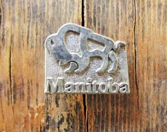 Vintage Buffalo Manitoba Canada Pin