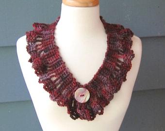 PATTERN C-036 / Crochet Pattern / LeeAnn Cowl ... worsted 100 yds