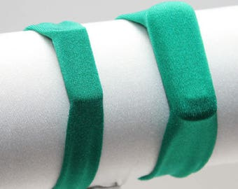 Solid Kelly Green - Fitness Band for Step Trackers - Spandex Bracelet